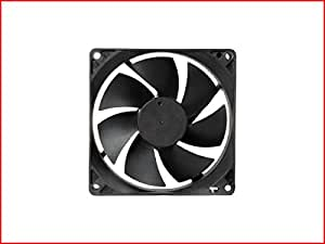 """MAA-KU DC Axial Case Cooling Fan. SIZE : 3.65"""" inches (9.2x9.2x2.5cm), (92x92x25mm), SUPPLY VOLTAGE : 12VDC, Material : Plastic P.B.T., Color : Black."""