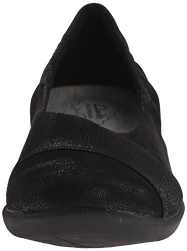 Clarks Cloudsteppers Sillian Intro piatto Black Synthetic Nubuck