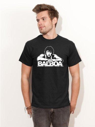 BIGTIME.de T-Shirt Rocky Balboa Italian Stallion Sylvester Stallone Kult Film Shirt E142 schwarz Gr. M