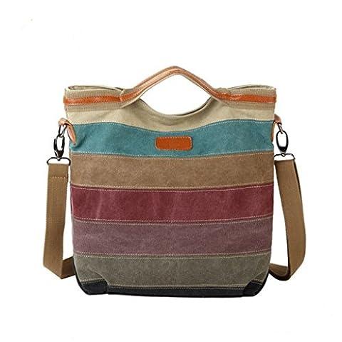 Sucastle sac de mode sac rétro sac sac messager décontracté sac de toile de sac à bandoulière Sucastle Couleur: Stripe Taille: 35x30x15cm