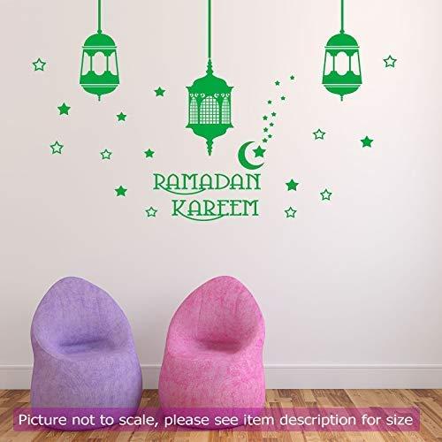 Ramadan Kareem islamischen Wandaufkleber arabische Licht Lampe Kunst Shop abnehmbare Vinyl Wand Aufkleber Home Decor JRD1