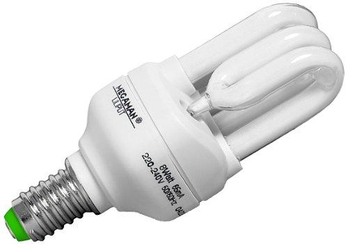 Megaman ESL Liliput Energiesparlampe 8 Watt E14 230V 827 -MM30802