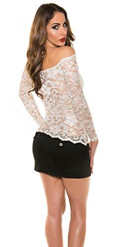 In-Stylefashion - Sweat-shirt - Femme blanc ivoire L Ivoire