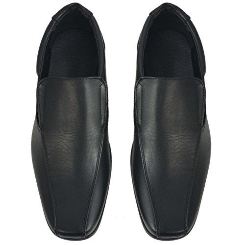 Vidaxl Classic Chaussures Pour Homme Elégant Similicuir Noir / Marron Différentes Tailles Noir