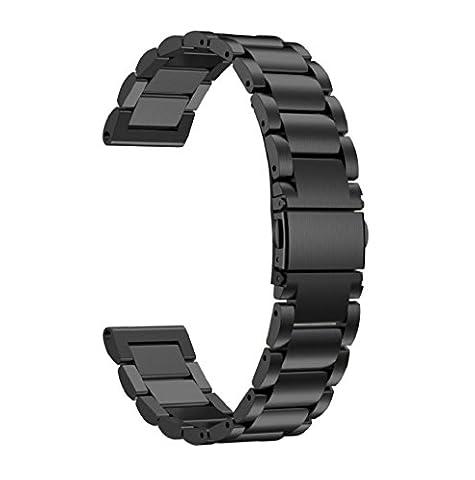 Pour Garmin Fenix 5 GPS Watch Bracelet ,Clode®Bracelet en acier inoxydable bracelet en acier inoxydable pour Garmin Fenix 5 montre GPS