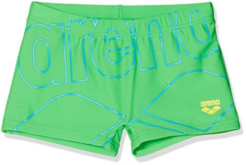 ARENA Kids Boy Short Bañador Corto Niño con Protección UV, Bebé-Niños, Golf Green-Yellow Star...