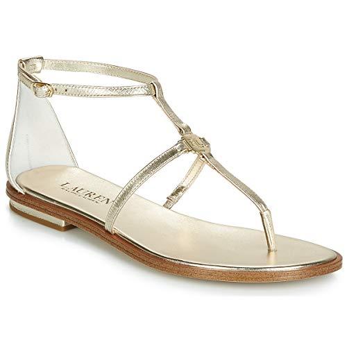 Lauren Ralph Lauren NALAINE Sandalen/Sandaletten Damen Gold - 41 - Sandalen/Sandaletten