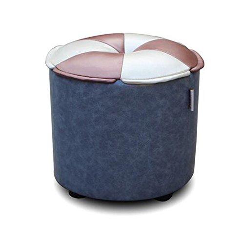 ZHANGRONG- Cuir imitation pour tabouret de chaussures Salle de séjour de style européen Tabouret de canapé Tabouret à la mode Tabouret (Couleur, style optionnel) -Tabouret de canapé (Couleur : A)