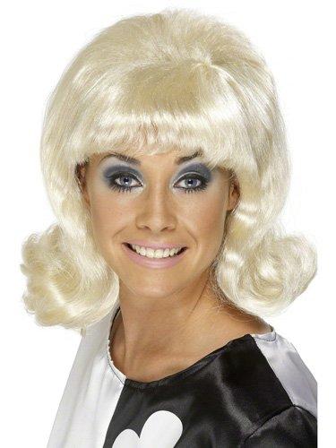 60 's Perruque Blonde Flick Up