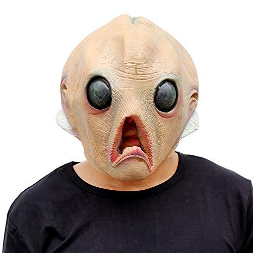 AKCHIUY Alien Maske Erwachsener,Halloween Weihnachten Latex Kopfbedeckungen Fasching Film Kostüm Requisiten - Zombie Überlebens Halloween Kostüm