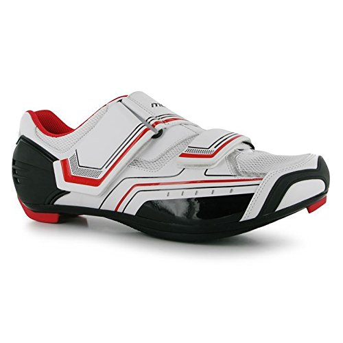 Muddyfox Mens RBS100 Cycling Shoes Breathable Cycle Bike Sport New White/Blk/Red UK 12