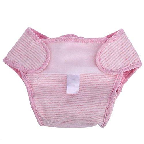 Domybest Infant Coton étanche anti latérales bébé lavable Diaper, rose, S