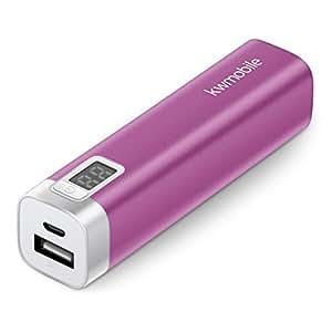kwmobile Chargeur de secours externe universel - Power Bank 2600 mAh - pour Apple iPhone / iPod Touch, tous les téléphones avec une prise micro ou mini USB