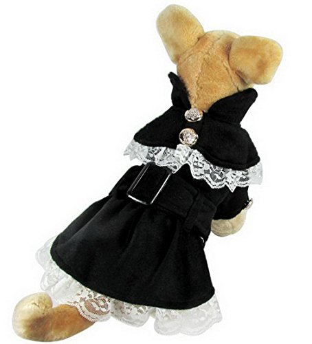 ranphy Kleine Doggy Katze Rock für Mädchen Kleid Welpen Hund Tutu Kleid Plissee Spitze Yorkie Apparel