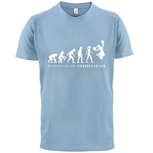 Blau Cheerdance Kostüm (Evolution of Woman - Cheerleading - Herren T-Shirt - Himmelblau -)