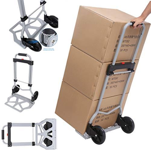 Aluminium-Treppensteiger Sackkarre Einkaufstrolley klappbar Tragkraft 100 kg Handkarre Schneller und leichter Transport (Typ1)