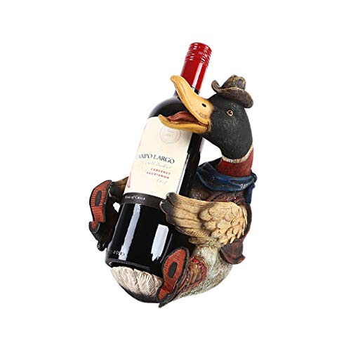 (Hxyan Weinflasche Rack Weinregal Dekoration Tischplatte Handgemachte Skulptur Country Farm Kitchen 19 * 16 * 25,8 cm)