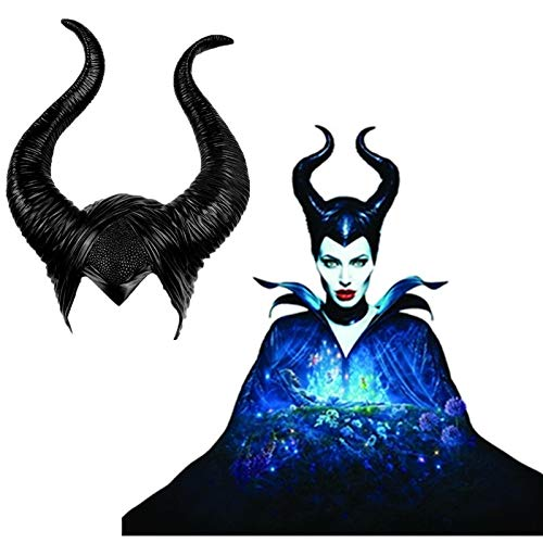 SKJIND Maleficent Kostüm Hörner Halloween Cosplay