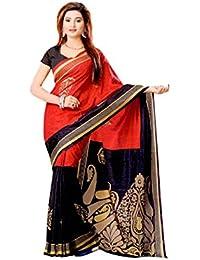 Miraan Kora Silk Saree (Vi3463_Black)