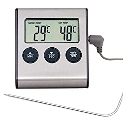 Digital Funk Thermometer Backofen Ofen Braten Einstich Sender Fühler Grill R