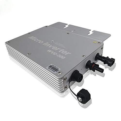 Y&H 300W Grid Tie Inverter MPPT Waterproof Multiple Parallel Stacking DC22-50V Pure Sine Wave Inverter für 36V Solar Panel, kompatibel mit AC230V Power Grid WVC-300W-220V -