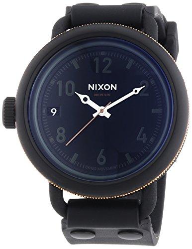 nixon-herren-armbanduhr-xl-october-matte-black-industrial-green-analog-quarz-plastik-a4881530-00