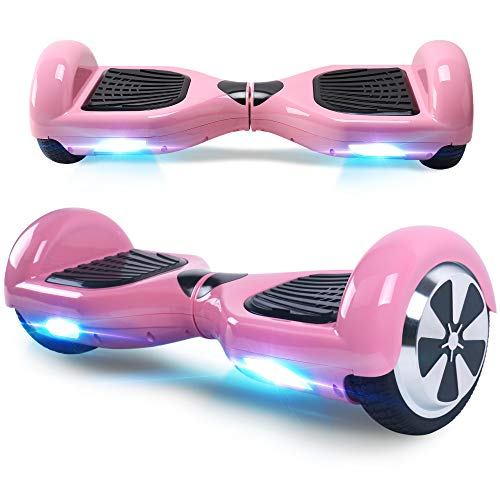 "BEBK Hoverboard, 6.5\"" Self Balance Scooter mit 2 * 250W Motor, LED Lights Elektro Scooter (Pink)"