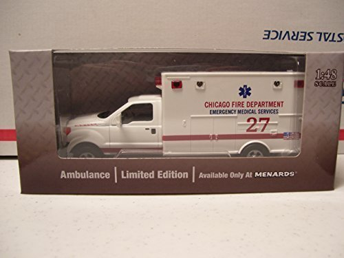 menards-chicago-fire-department-ambulance-w-working-headlights-and-emergency-lights-limited-edition-