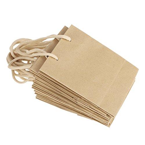 10 Stück Papiertüten Geschenk Schmuck Partei Beutel Lebensmittel Taschen braun Hochzeit Bevorzugungen Papiertüten