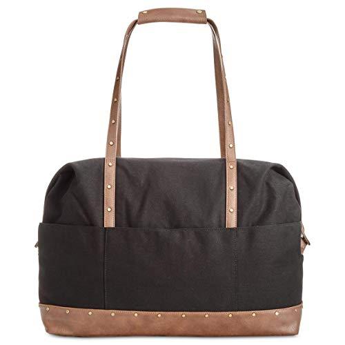 41363bdabe13f Style   Co. Womens Faux Leather Satchel Duffle Handbag Black Extra Large