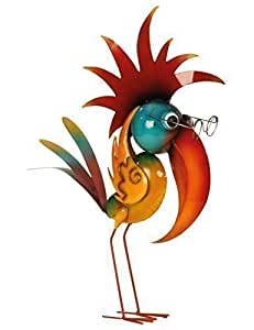 Cooler d coration de jardin oiseau de m tal debout for Decoration jardin oiseau metal