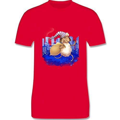Sonstige Tiere - Schlafi Schaf - Herren Premium T-Shirt Rot