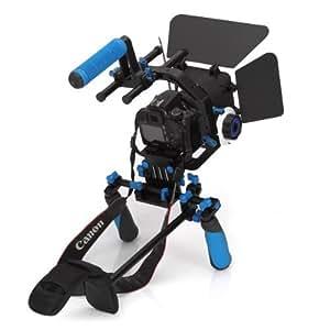 eimo DSLR Rig Kit Movie épaule Mont Rig + Follow Focus + Matte Box + Réglez la plate-forme + C Forme support Cage + Top Handle pour tous DSLR et vidéo Caméscopes