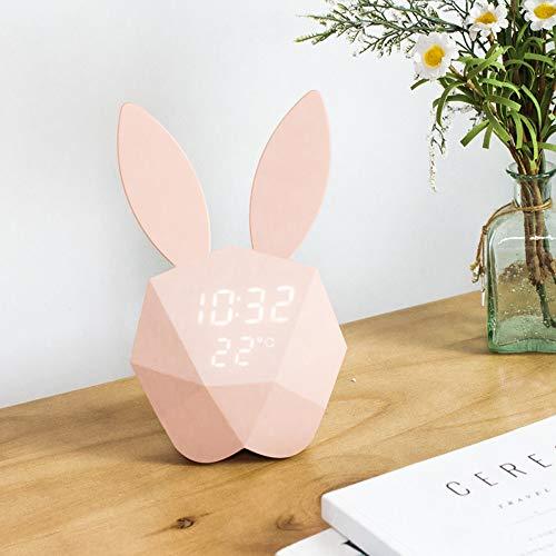 Sencillo Vida Reloj Despertador Digital con Pantalla de Temperatura, Luz de Noche para Niños Inteligente...