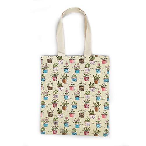 Modische Einkaufstaschen (Wallace Elec Strapazierfähige Tragetasche aus Segeltuch mit langen Griffen [Reißverschluss] [Innentasche] modisches Design Einkaufstasche, Weiá (E-white Bonsai), Einheitsgröße)
