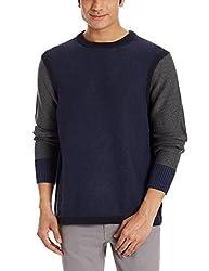 Nautica Mens Cotton Sweater (8907259494432_NTS533124EB_Large_Ensign Blue)