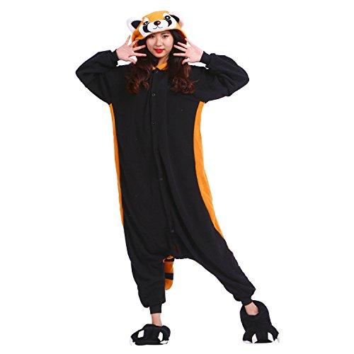 PALMFOX Kostüm Anime Tier Cosplay Hoodie Onesie Erwachsene -