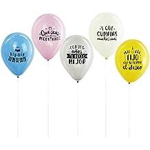 Mr Wonderful 10 Globos Para Cumpleaños Molones, Multicolor, 10.00X10.00X10.00