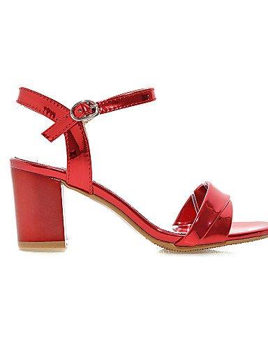 UWSZZ IL Sandali eleganti comfort Scarpe Donna-Sandali-Formale-Aperta-Quadrato-Vernice-Rosa / Rosso / Argento / Dorato Pink