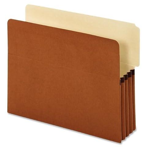 Globe-Weis/Pendaflex Standard End Tab File Pockets, 3.5-Inch Expansion, 2/5 Cut Tab, Tyvek, Letter Size, Brown, 10 Pockets Per Box