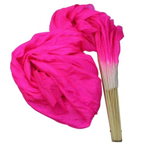 Tanzfächer Bauchtanz Tanz Fächer Schleier Fächerschleier Schleierfächer (Pink) (Tanz-schleier)