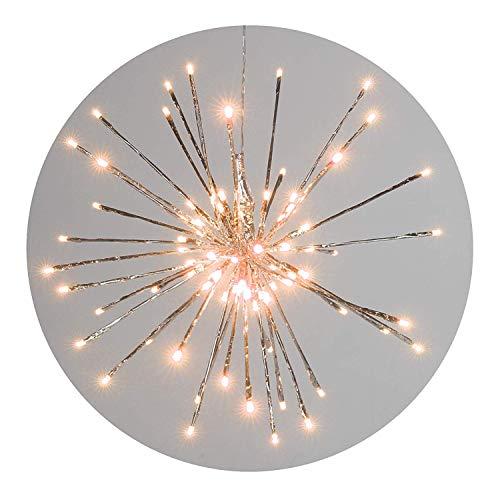 Stern Meteor silber Ø 68 cm 192 LED warmweiß zum Aufhängen Weihnachten