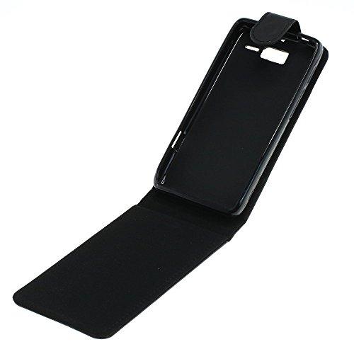 Mobilfunk Krause - Flip Case Etui Handytasche Tasche Hülle für Motorola RAZR i XT890 (Schwarz)