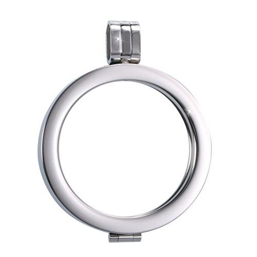 Sissi Jewelry Münzfassungen Edelstahlanhänger - Coinsfassung Anhänger Silberton WK-003