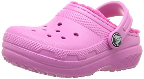 Crocs Classic Lined Clog Kids, Unisex - Kinder Clogs, Pink (Party Pink/Candy Pink), 28/29 EU
