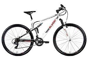 KS Cycling Fahrrad Mountainbike MTB Fully Slyder Weiß/Rot, 29