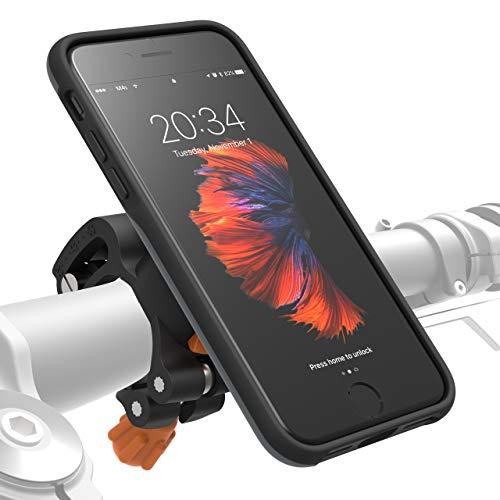 MORPHEUS LABS M4s iPhone 8 / 7 Fahrrad Halterung Fahrradhalterung - Handyhalterung  & iPhone 8 / 7 Hülle magnetisch fürs Rad, DropTest, mit Quick Lock, Bike-Kit passend für meisten Lenker grau