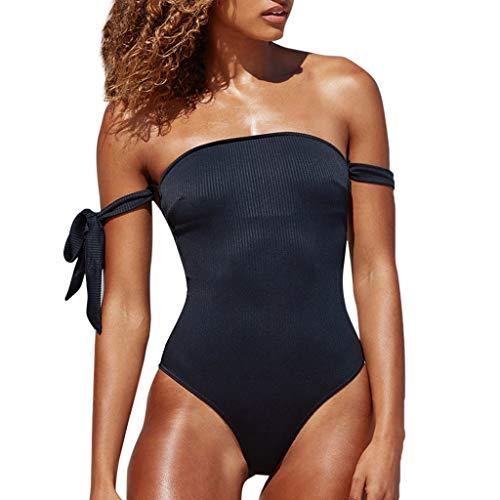 65f44e7e Bikinis Mujer,Dragon868 Adolescentes Chicas Fuera del Hombro una Pieza  Bikini Trajes de bañadores(