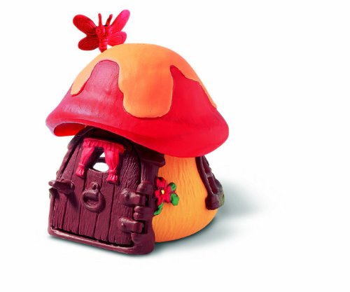 Schleich 49011 - Figura/ miniatura Pitufo casa pequeña, de color rojo