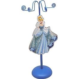 Disney 90005 – Cinderella Portacollane in Metallo con Figura in Legno, in Confezione Regalo, 11x11x28 cm